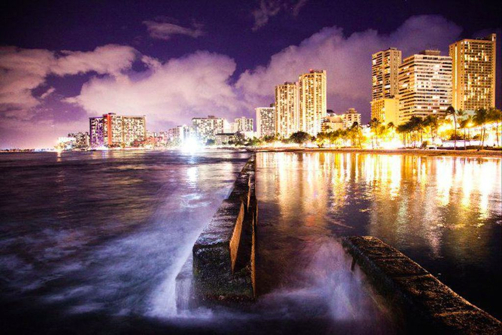 Waikiki break wall at night.jpg